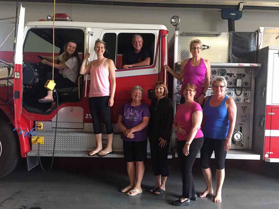 Chilliwack YMCA Yoga fire hall class