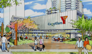 Artists rendering of the Coquitlam YMCA building exterior